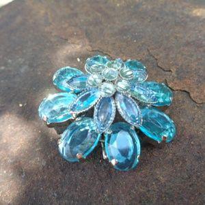Large Blue Brooch Jewelry